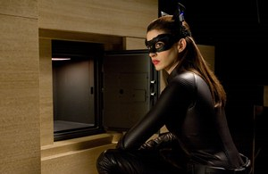 "ANNE HATHAWAY as Catwoman in Warner Bros. Pictures' and Legendary Pictures' ""THE DARK KNIGHT RISES,"" a Warner Bros. Pictures release."