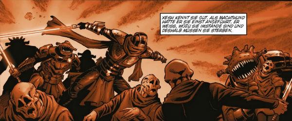Ausschnitt aus Star Wars: Dawn of the Jedi 3: Machtkrieg | © Panini