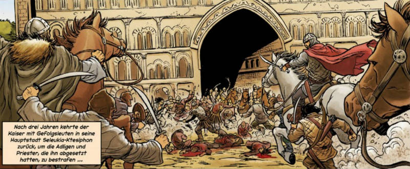 Ausschnitt aus Maxentius 1: Der Nika-Aufstand | © Panini