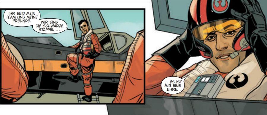 Ausschnitt aus Star Wars: Poe Dameron 1 - Schwarze Staffel | © Panini