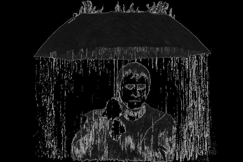 Con Man | Zeichnung von Wulf Bengsch