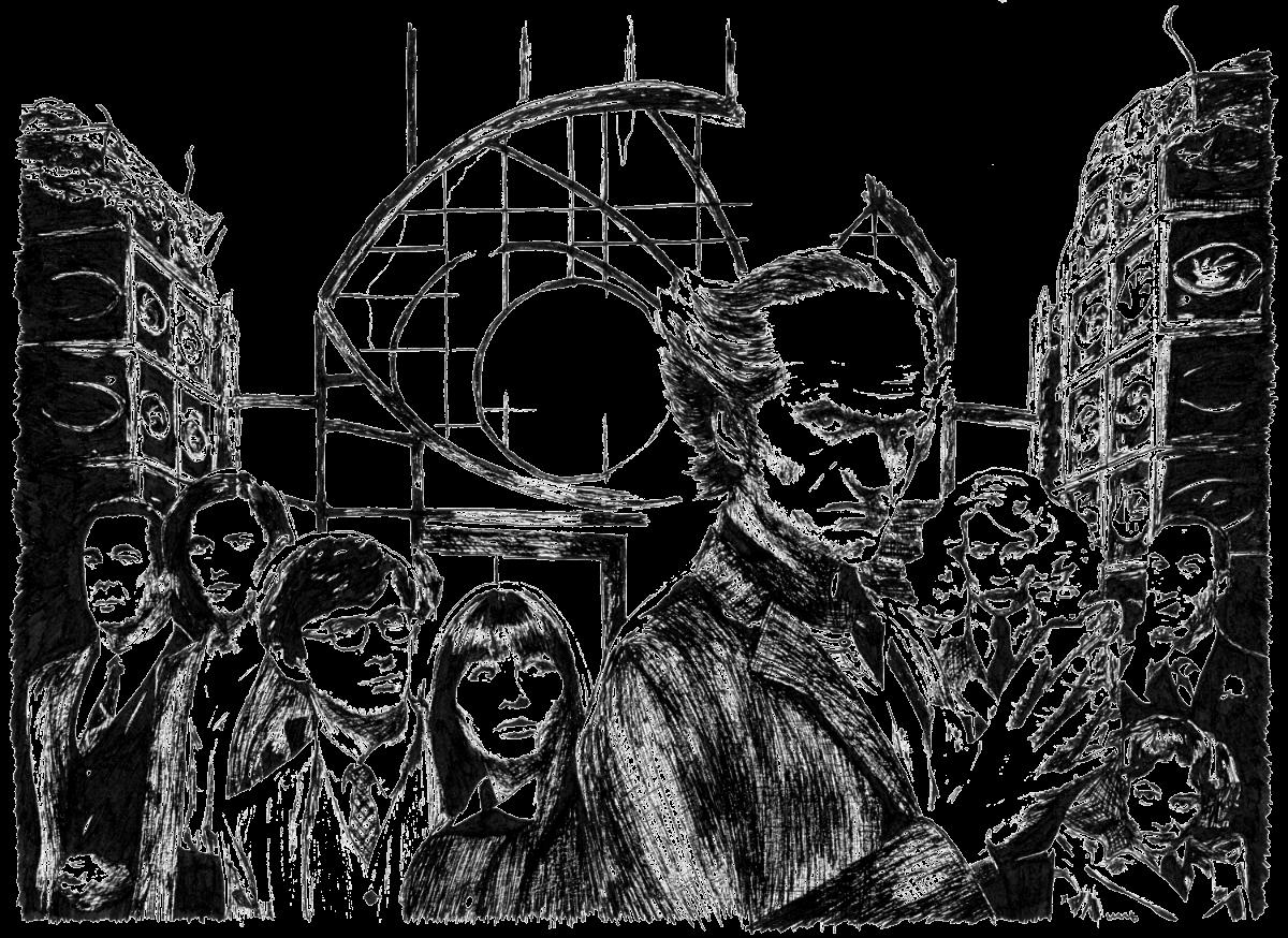 Eine Reihe betrüblicher Ereignisse | Zeichnung von Wulf Bengsch