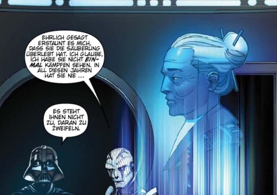 Ausschnitt aus Star Wars: Darth Vader: Das erlöschende Licht | © Panini
