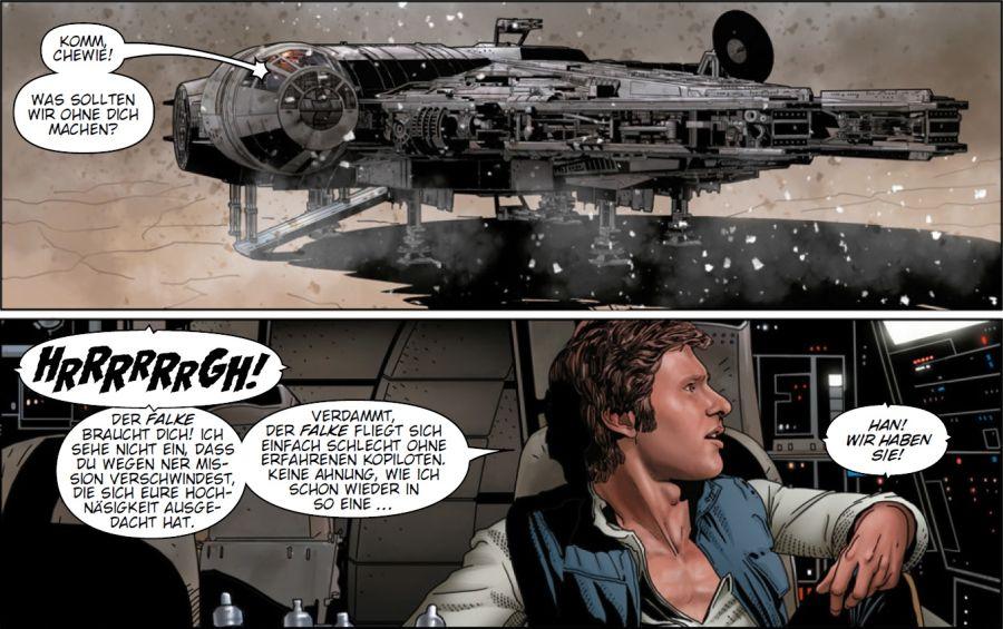 Ausschnitt aus Star Wars: Die Asche von Jedha | © Panini