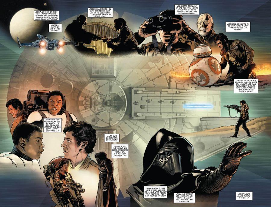 Ausschnitt aus Star Wars: Poe Dameron 5 - Das Erwachen | © Panini